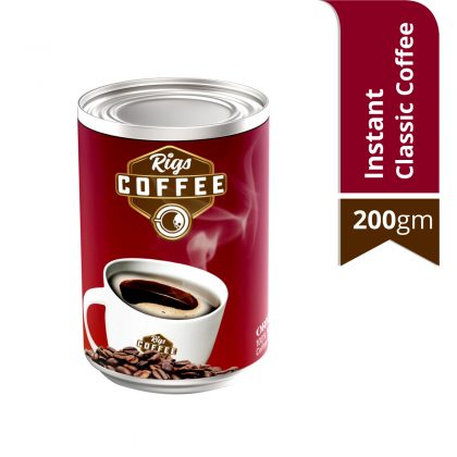Rigs Instant Classic Coffee 200 gm Tin